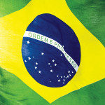 Brazil flag sky