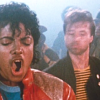 "Michael Jackson with choreographer Michael Peters, left, and Vincent Paterson in ""Beat It."""
