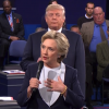 Clinton and Trump during the second presidential debate.