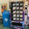 Public vending machines dispense clean needles, safe sex kits and first aid supplies.