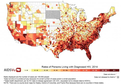 Click on These U.S. Maps to Find HIV Rates in Your City, County and ...