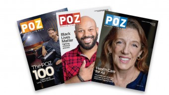 3 POZ Magazine covers