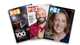 3 POZ Magazine covers