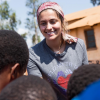 Paris Jackson during a trip to Africa.