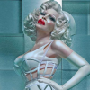 "Amanda Lepore, in a detail from the ""All Types Welcome"" blood drive campaign"