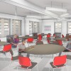 A rendering of GMHC's future dining area