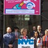 New York City health commissioner Mary T. Bassett, MD, speaks at the Chelsea Sexual Health Clinic reopening.