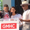 "The stars of ""Pose"" (Ryan Jamaal Swain, MJ Rodriguez and Billy Porter) at AIDS Walk New York 2019"