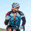 A rider in the 2019 AIDS/LifeCycle
